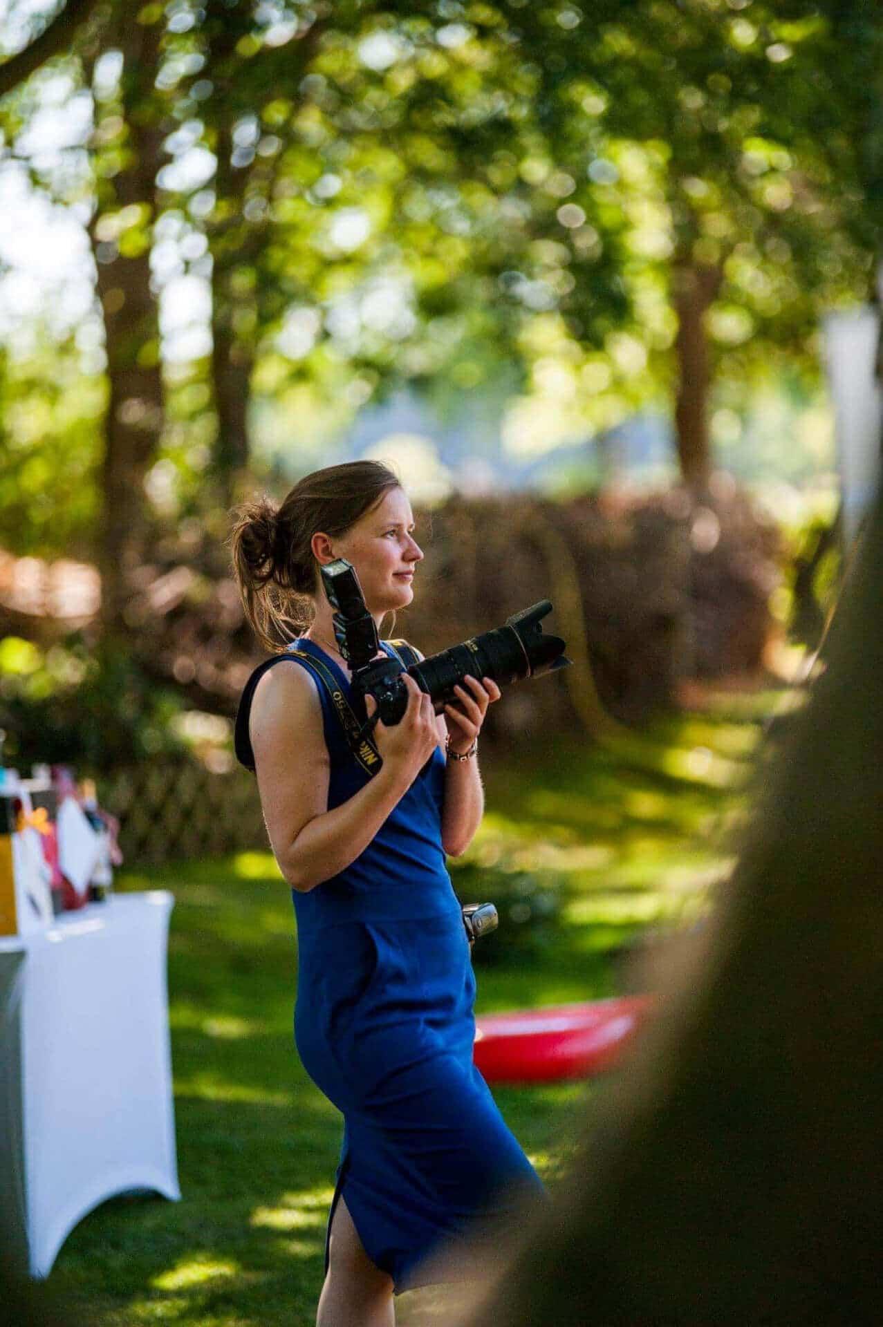 Portret Grietje Mesman tijdens bruiloft