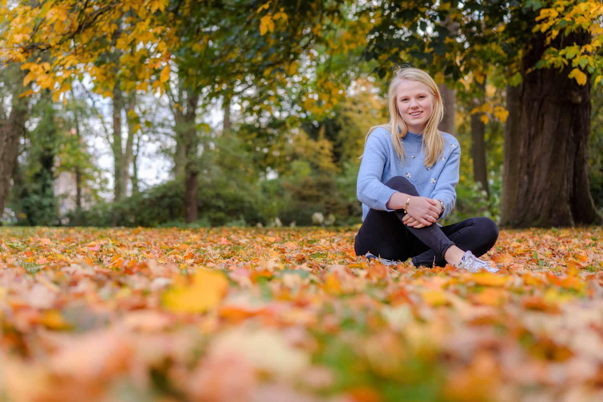 Fotograaf portret model herfst Deventer Overijssel