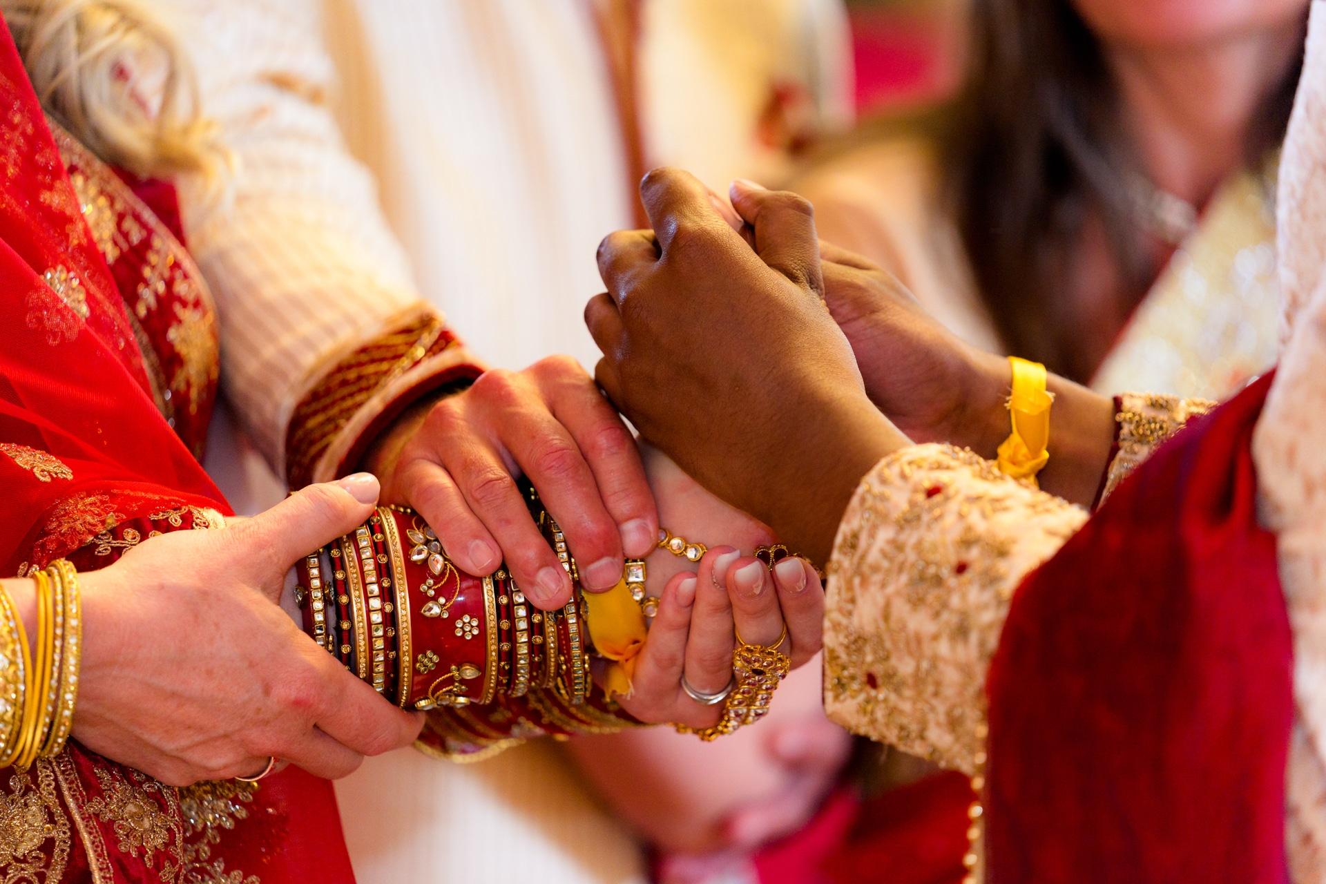 Hindoestaanse bruiloft ceremonie