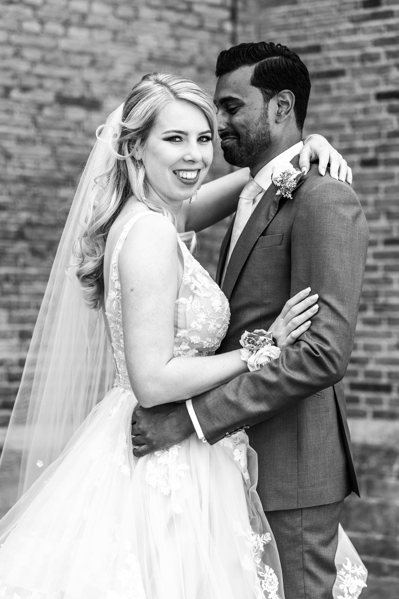 Bruiloft Den Haag portret, bruidsfotografie door trouwfotograaf Grietje Mesman