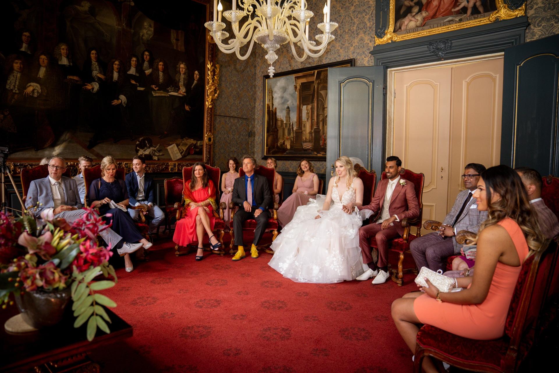Ceremonie trouwen Den Haag stadhuis