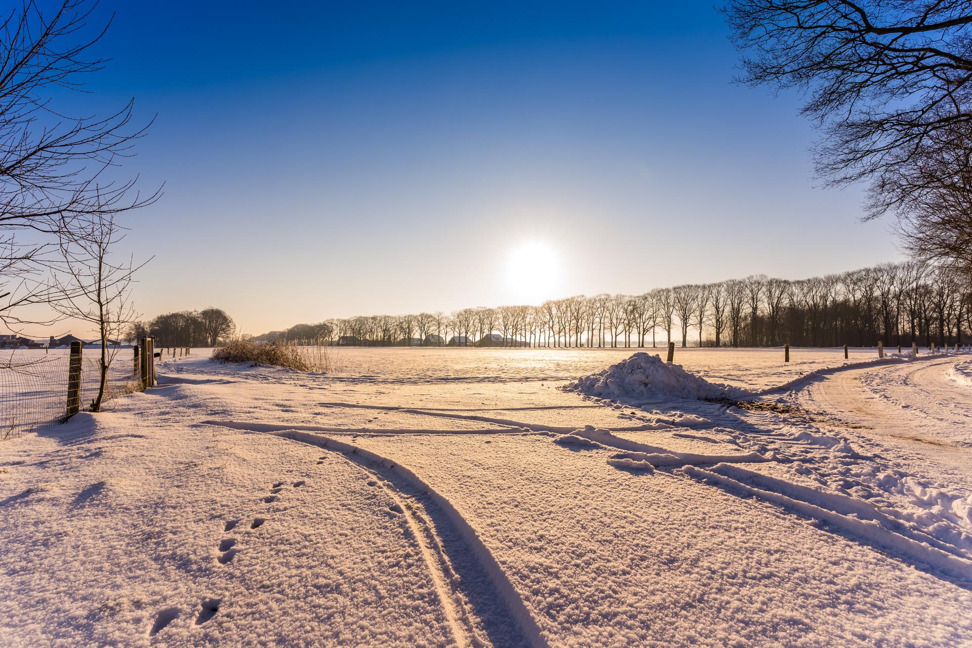 Sneeuwlandschap Nederland